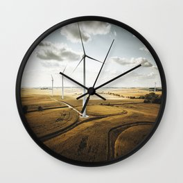 windturbine in nebraska Wall Clock