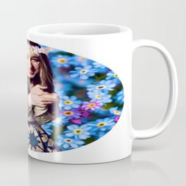 Taissa Farmiga Daisy Flower Crown Edit Coffee Mug