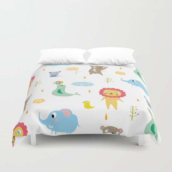 Zoo Party Duvet Cover