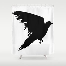 Ragged Raven Silhouette Shower Curtain
