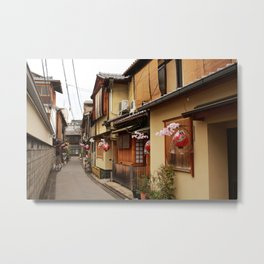 Old Houses in Kyoto Metal Print