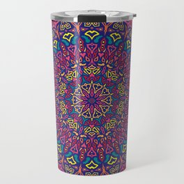 Paradise Sunset Mandala Travel Mug