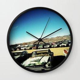 Car Lot, Kingman AZ Wall Clock