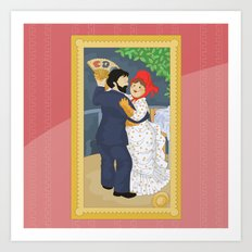 Dance in the country by Renoir Art Print