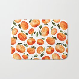 Watercolor tangerines Bath Mat