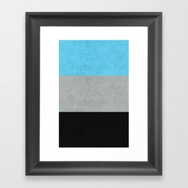 Tri Colour Stripes Framed Art Print