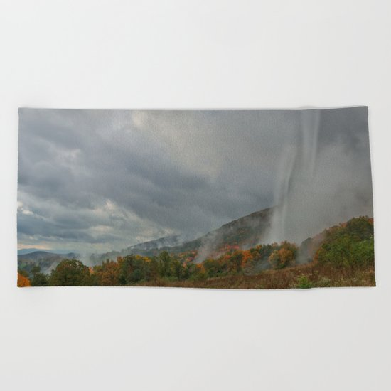 Dolly Sods Mountain Fog Beach Towel