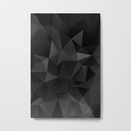Abstract of triangles polygo in black colors Metal Print