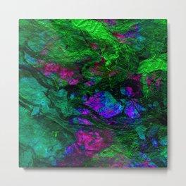 funky abstract waves Metal Print