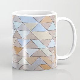 Triangle Pattern no.1 Blues and Browns Coffee Mug