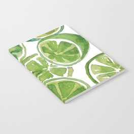 Watercolor LIMES Notebook