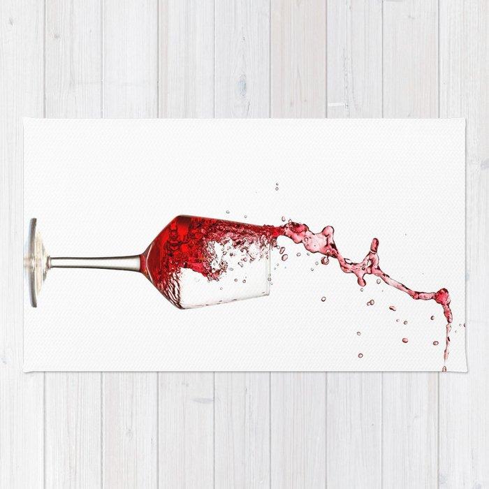 wine glass Rug