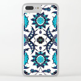 Floral Fabric Vintage Gift Pattern #6 Clear iPhone Case