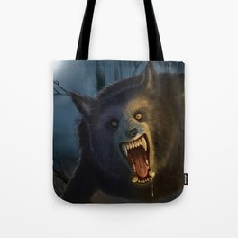 Moonlit Werewolf Tote Bag