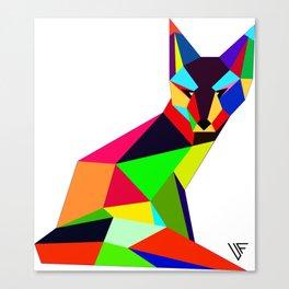 Geometric Fox Canvas Print