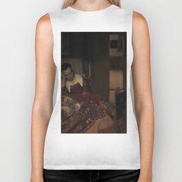 "Johannes Vermeer ""A Woman Asleep at Table"" Biker Tank"
