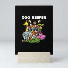 Future Zoo Keeper Mini Art Print