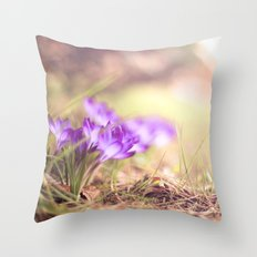 on the ground II Throw Pillow