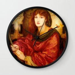 "Dante Gabriel Rossetti ""Sibylla Palmifera"" Wall Clock"