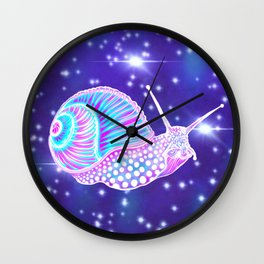Psychedelic Galaxy Snail Wall Clock