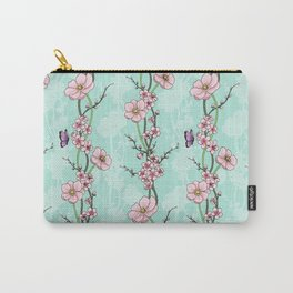 Japanese Garden - cherry blossom and anemones Carry-All Pouch
