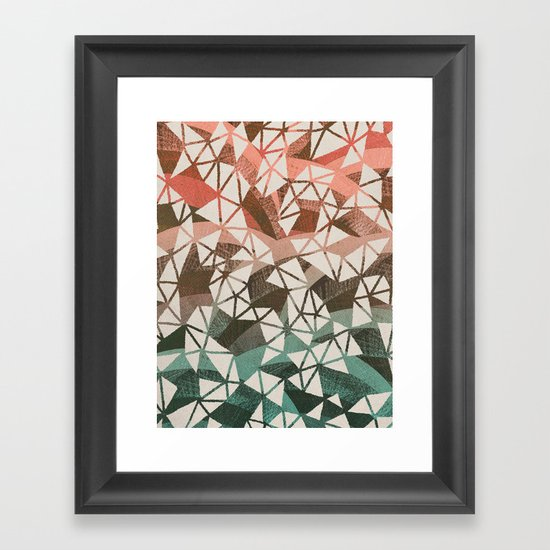 Geometry Jam Framed Art Print