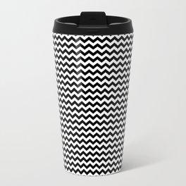 Chevron Black Travel Mug