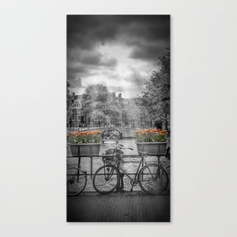 AMSTERDAM Gentlemen's Canal | upright panoramic view Canvas Print