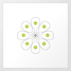 Pickleball Paddle Ball Pattern Art Print