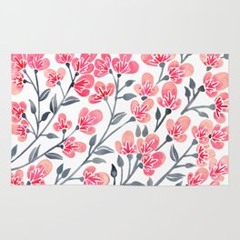 Cherry Blossoms – Pink & Black Palette Rug