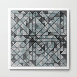 Muted tiles Metal Print