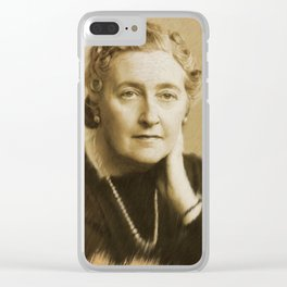 Agatha Christie Clear iPhone Case