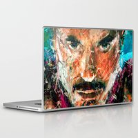 tony stark Laptop & iPad Skins featuring TONY STARK by DITO SUGITO