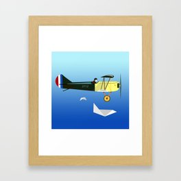 Curtiss Jenny JN 4D pioneer of flight Ameli Lost poster vintage aircraft sky and clouds air picture Framed Art Print