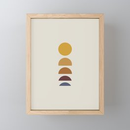 Minimal Sunrise / Sunset Framed Mini Art Print