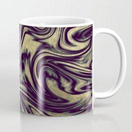 Digital Marble III - Ultra Violet +Gold Coffee Mug