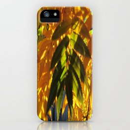 A  touch of green iPhone Case
