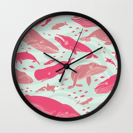 Whales Gathering I  Wall Clock