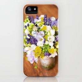 Bridal freesia bouquet wedding flowers iPhone Case