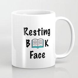 Resting Book Face Coffee Mug