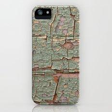 Cracked Wood Paint iPhone SE Slim Case
