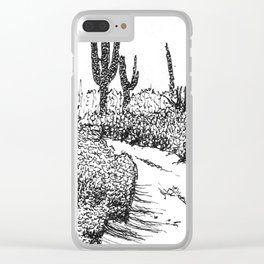 Cactus Path Clear iPhone Case