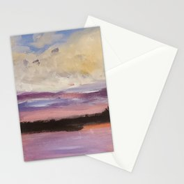 Clouds over the St Lucie Inlet Stationery Cards