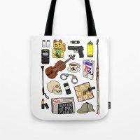sherlock Tote Bags featuring Sherlock by Shanti Draws