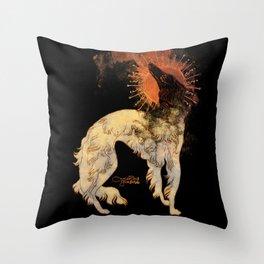 Fiery Beacon Throw Pillow