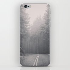 Forest Road Trip - Black and White Fir Trees Pacific Northwest iPhone & iPod Skin