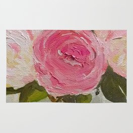 French Peonies Rug