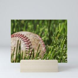 Old Baseball 1 Mini Art Print
