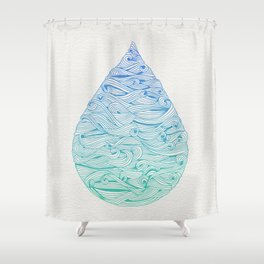Ombré Droplet Shower Curtain