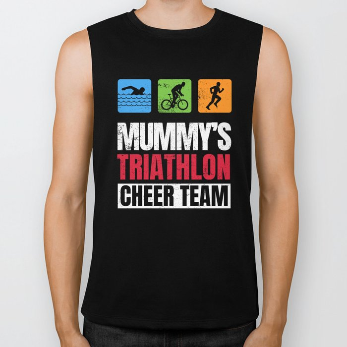 Mummys Triathlon Supporters Family Cheer  Biker Tank